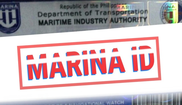 DECK & ENGINE OFFICERS ID ISSUED BY MARINA