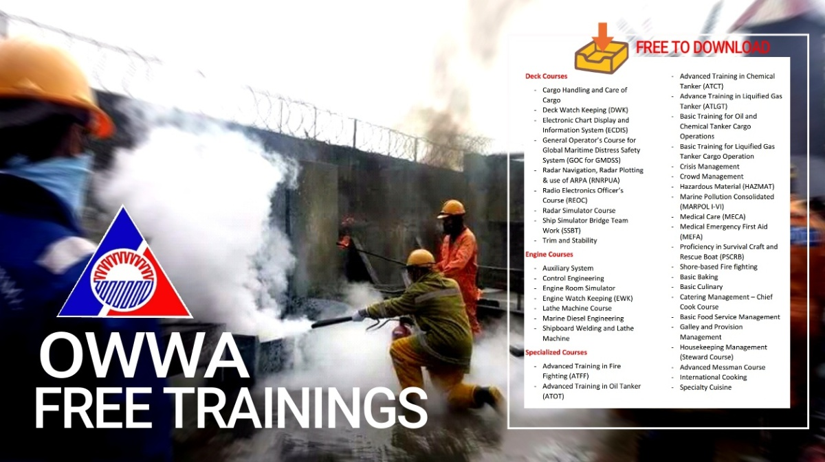 OWWA SUP: List of requirements and FREE trainings seafarers can avail